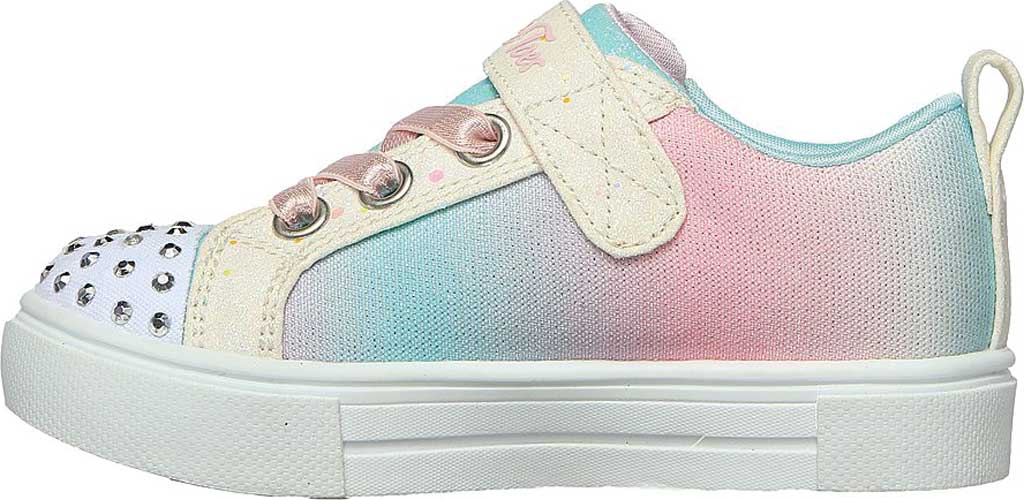 Infant Girls' Skechers Twinkle Toes: Twinkle Sparks - Winged Magic, White/Multi, large, image 3