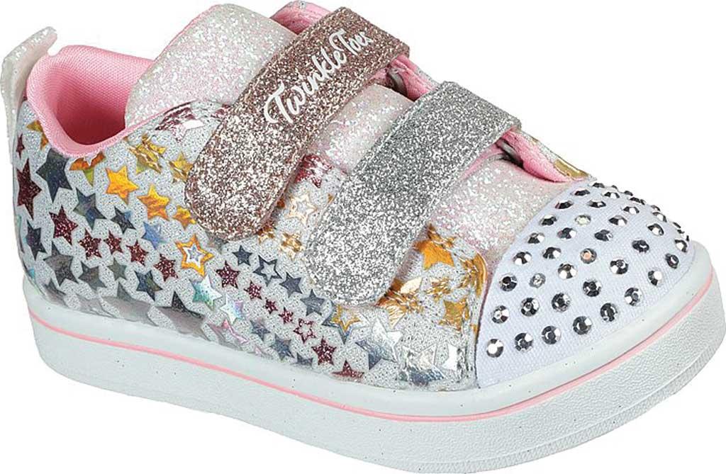 Infant Girls' Skechers Twinkle Toes Sparkle Rayz Star Blast Sneaker, White/Multi, large, image 1