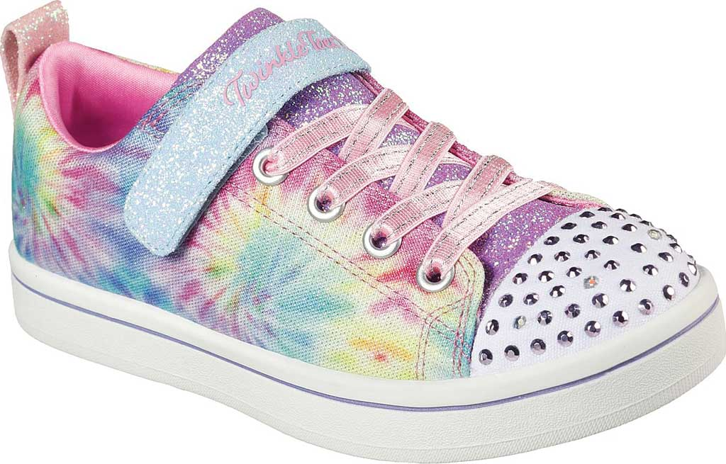 Girls' Skechers Twinkle Toes Sparkle Rayz Groovy Dreamz Sneaker, Lavender/Multi, large, image 1