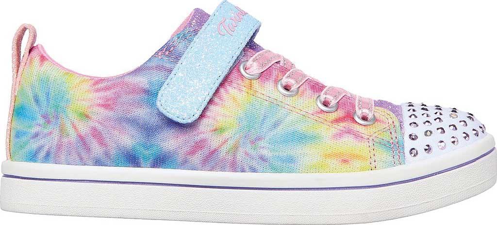 Girls' Skechers Twinkle Toes Sparkle Rayz Groovy Dreamz Sneaker, Lavender/Multi, large, image 2