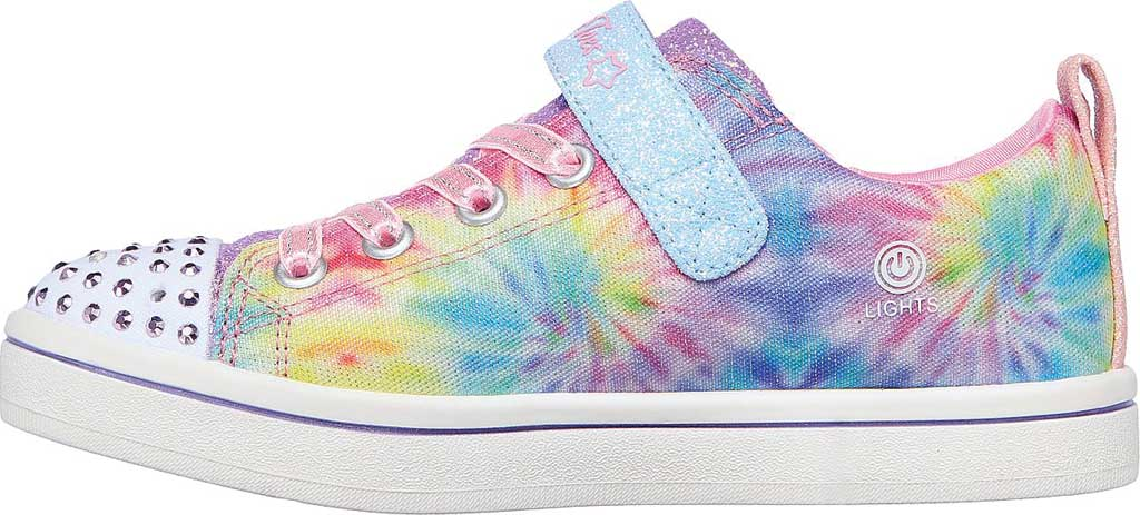 Girls' Skechers Twinkle Toes Sparkle Rayz Groovy Dreamz Sneaker, Lavender/Multi, large, image 3