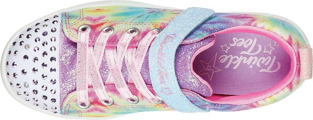 Girls' Skechers Twinkle Toes Sparkle Rayz Groovy Dreamz Sneaker, Lavender/Multi, large, image 5