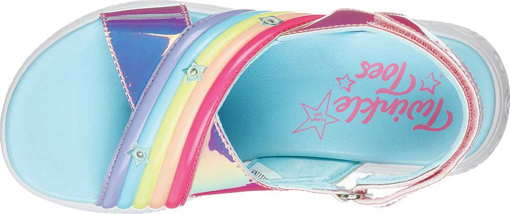 Girls' Skechers Twinkle Toes: Rainbow Shines, Multi, large, image 4