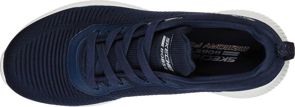 Women's Skechers BOBS Sport Squad Tough Talk Sneaker, Navy, large, image 5