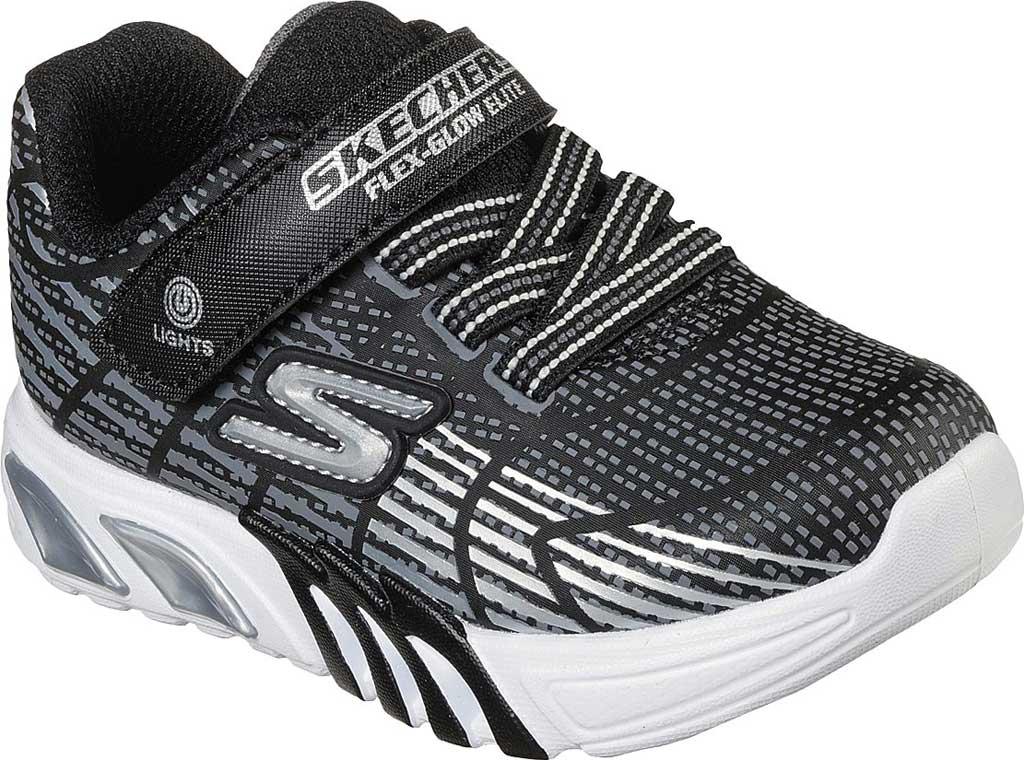 Infant Boys' Skechers S-Lights Flex Glow Elite Sneaker, Black/Gray, large, image 1