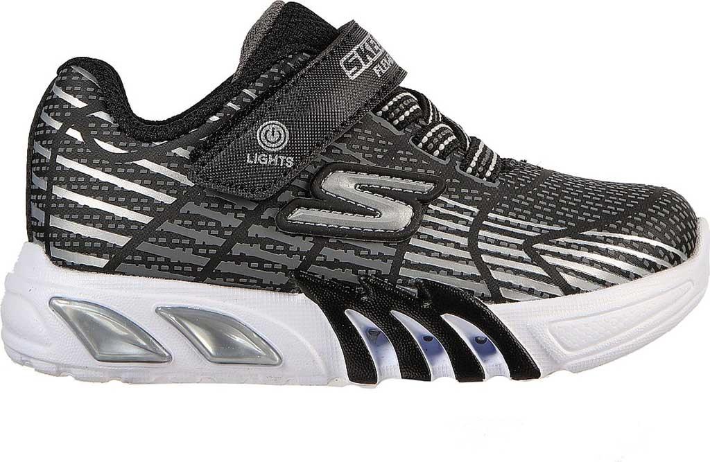 Infant Boys' Skechers S-Lights Flex Glow Elite Sneaker, Black/Gray, large, image 2