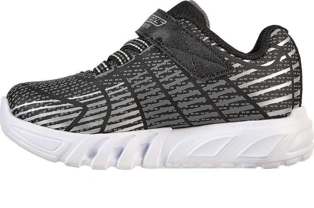 Infant Boys' Skechers S-Lights Flex Glow Elite Sneaker, Black/Gray, large, image 3