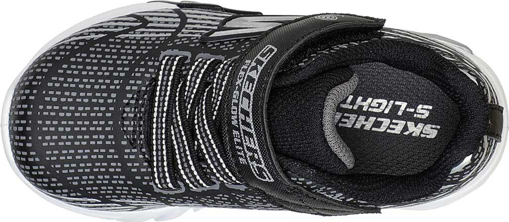 Infant Boys' Skechers S-Lights Flex Glow Elite Sneaker, Black/Gray, large, image 4