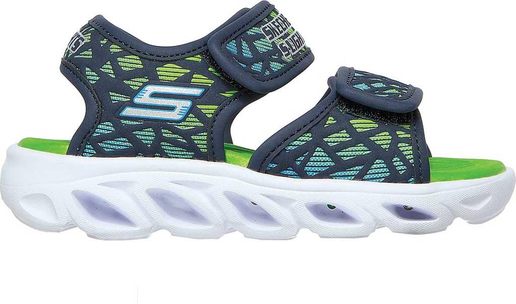 Infant Boys' Skechers S-Lights Hypno Splash Sun Sonic Active Sandal, Navy/Lime, large, image 2