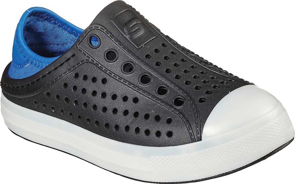 Boys' Skechers Foamies Guzman Flash Slip On Sneaker, Black/Royal, large, image 1