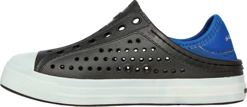 Boys' Skechers Foamies Guzman Flash Slip On Sneaker, Black/Royal, large, image 3