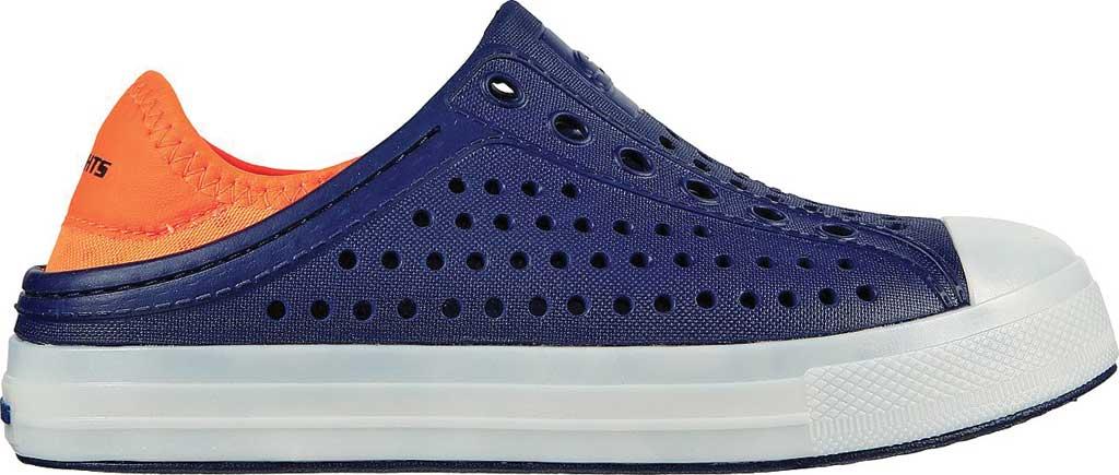 Boys' Skechers Foamies Guzman Flash Slip On Sneaker, Navy/Orange, large, image 2