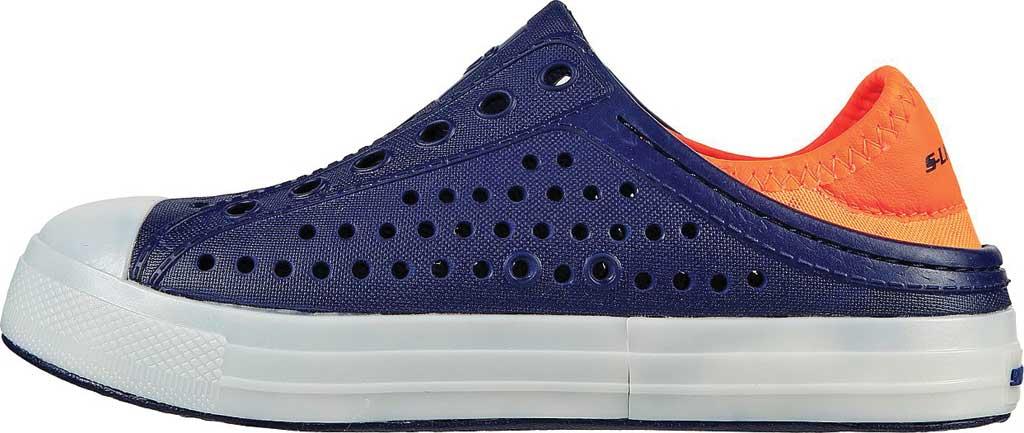 Boys' Skechers Foamies Guzman Flash Slip On Sneaker, Navy/Orange, large, image 3