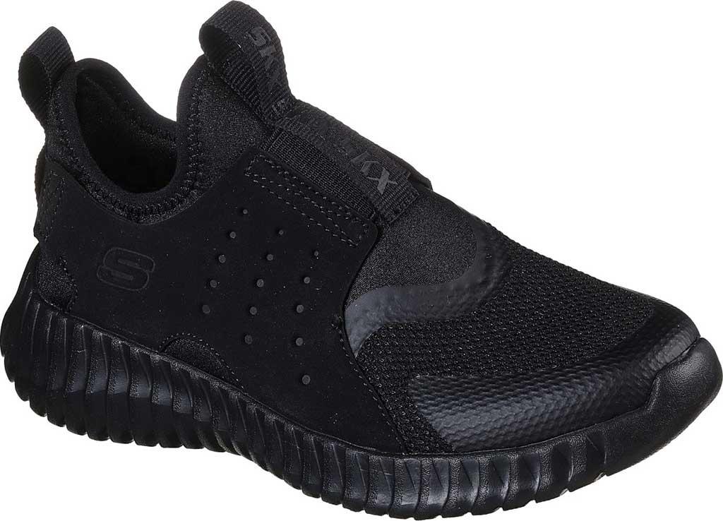 Boys' Skechers Elite Flex Rolvo Slip On Sneaker, Black/Black, large, image 1