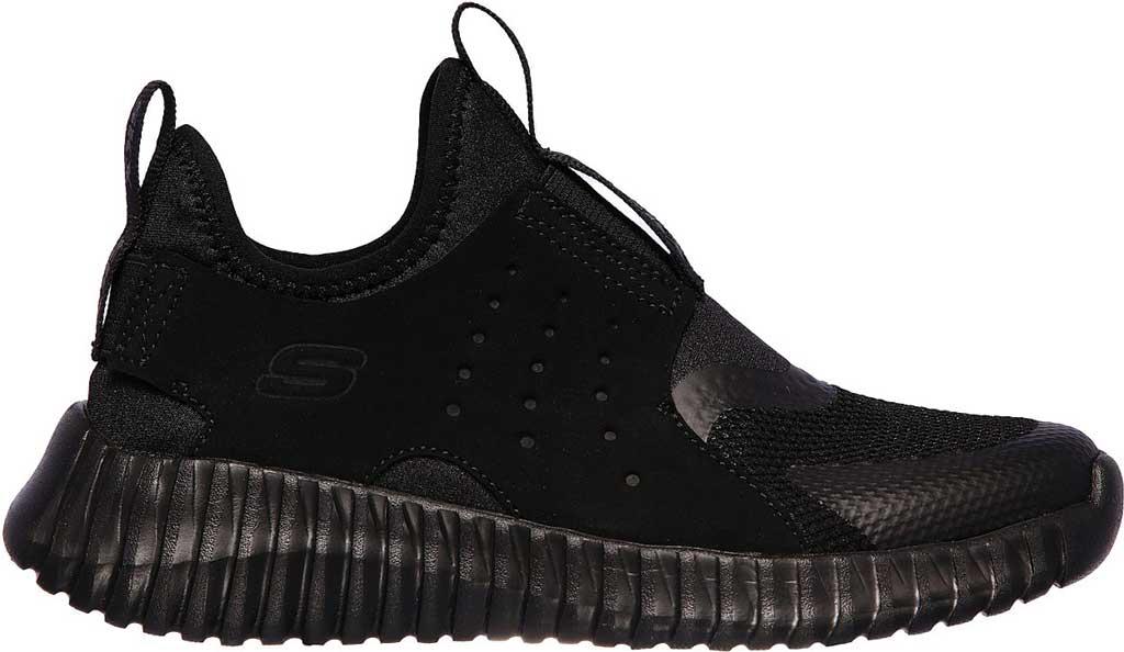 Boys' Skechers Elite Flex Rolvo Slip On Sneaker, Black/Black, large, image 2
