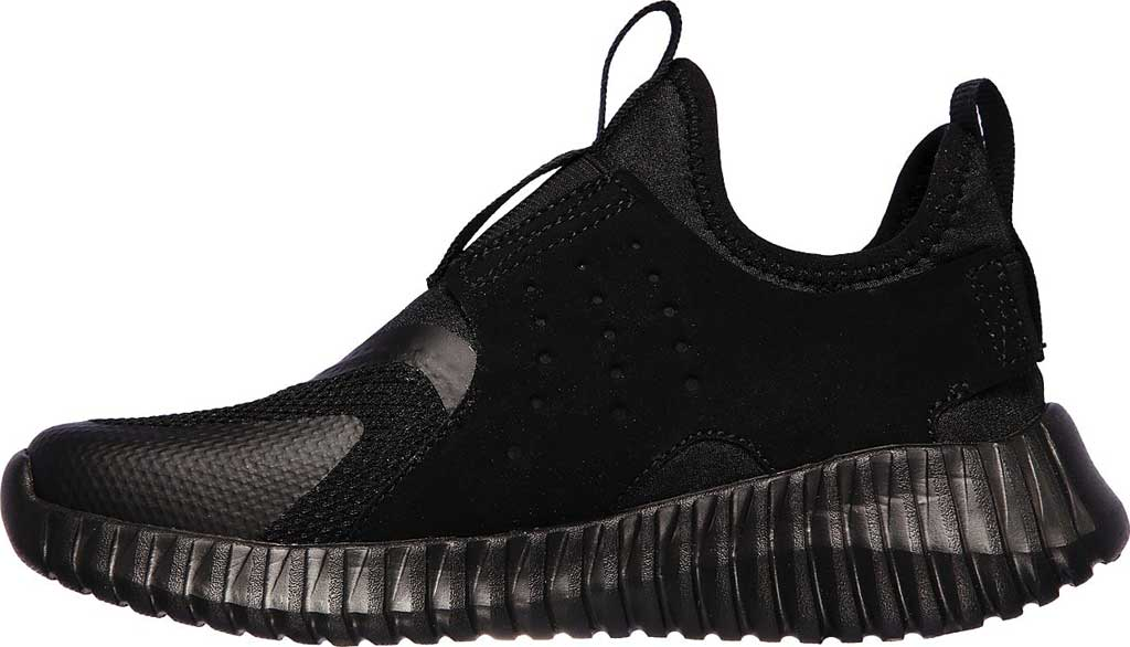 Boys' Skechers Elite Flex Rolvo Slip On Sneaker, Black/Black, large, image 3