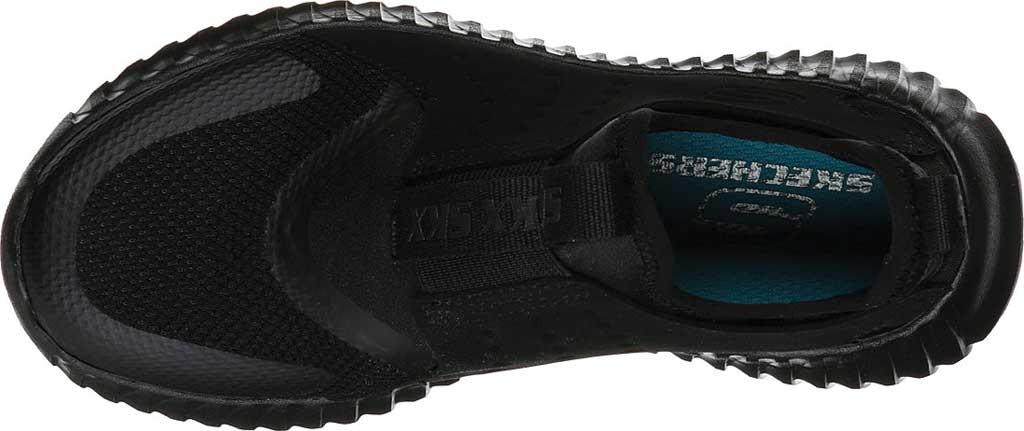 Boys' Skechers Elite Flex Rolvo Slip On Sneaker, Black/Black, large, image 4