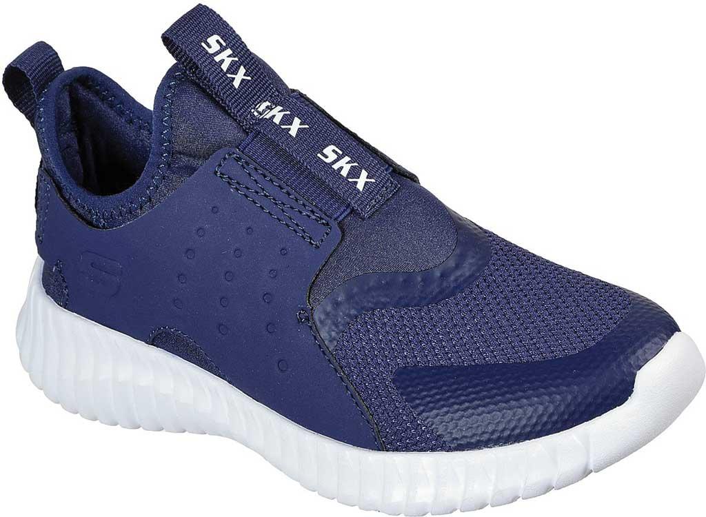 Boys' Skechers Elite Flex Rolvo Slip On Sneaker, Navy, large, image 1