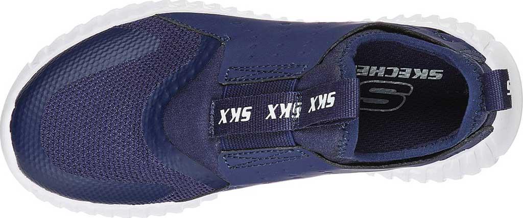 Boys' Skechers Elite Flex Rolvo Slip On Sneaker, Navy, large, image 4