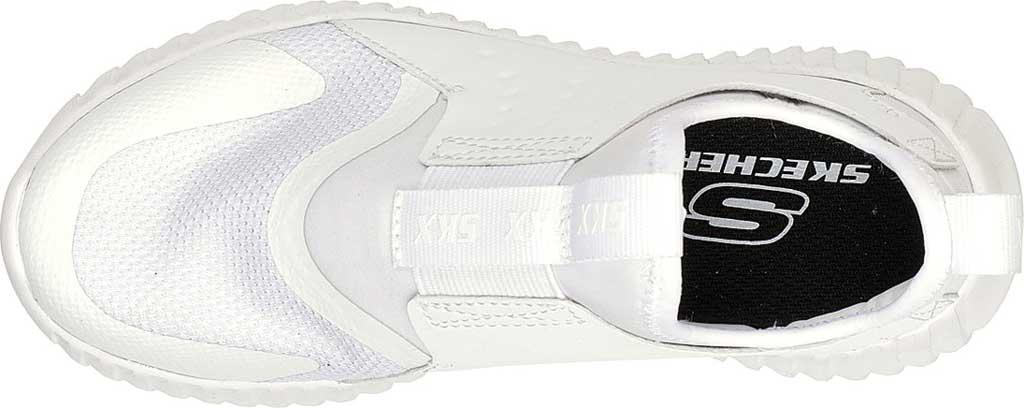 Boys' Skechers Elite Flex Rolvo Slip On Sneaker, White, large, image 4