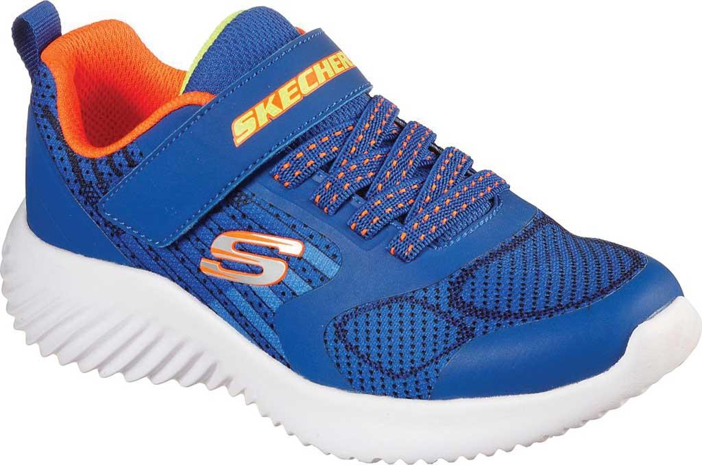 Boys' Skechers Bounder Gorven Sneaker, Royal/Orange, large, image 1