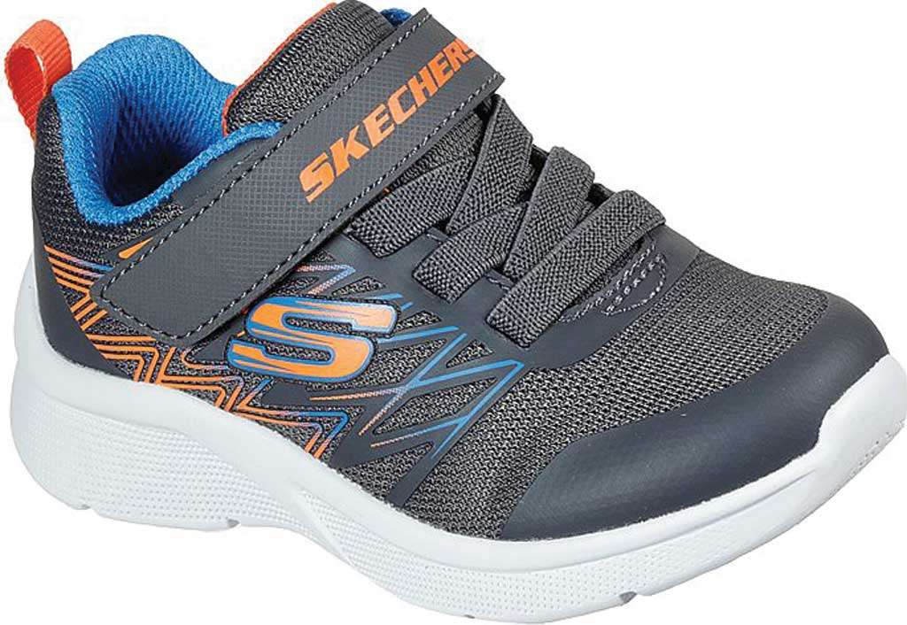Infant Boys' Skechers Microspec Texlor Sneaker, Gray/Blue, large, image 1