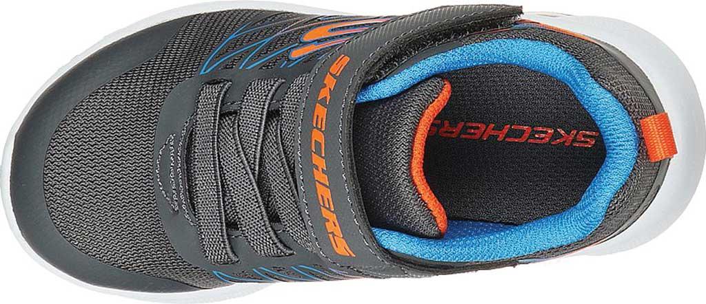 Infant Boys' Skechers Microspec Texlor Sneaker, Gray/Blue, large, image 4