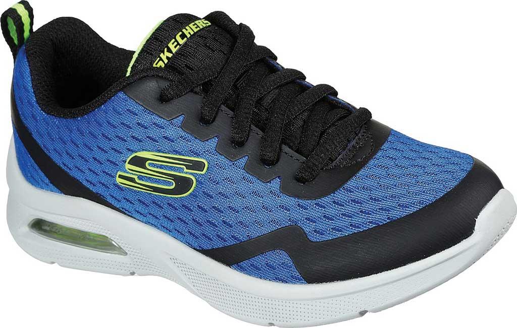 Boys' Skechers Microspec Max Sneaker, Royal/Black, large, image 1