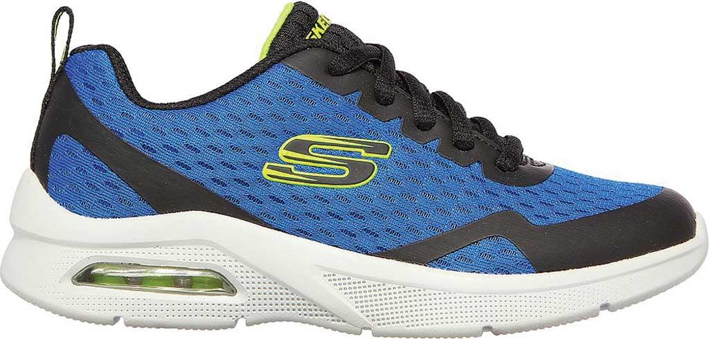 Boys' Skechers Microspec Max Sneaker, Royal/Black, large, image 2
