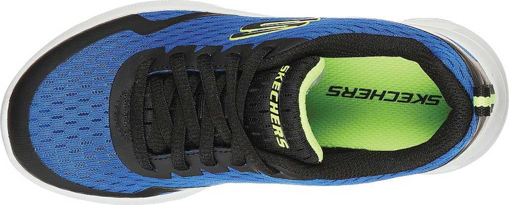 Boys' Skechers Microspec Max Sneaker, Royal/Black, large, image 4