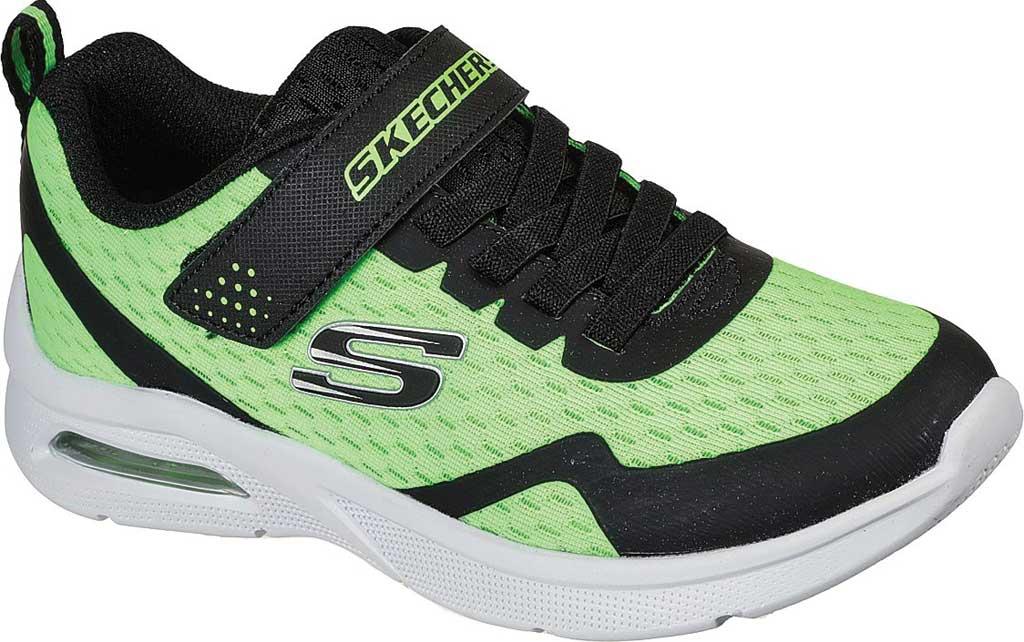 Boys' Skechers Microspec Max Torvix Sneaker, Lime/Black, large, image 1