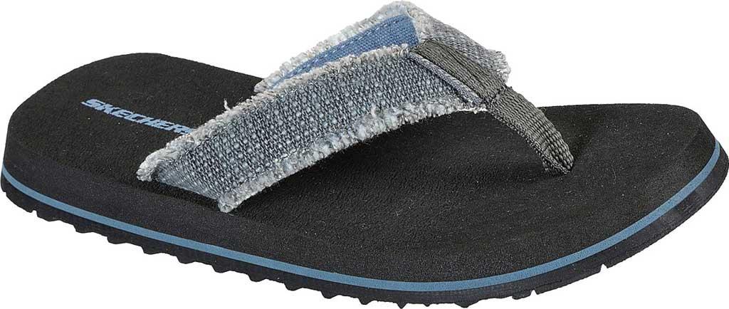 Boys' Skechers Tantric Dreddex Flip Flop, Charcoal, large, image 1