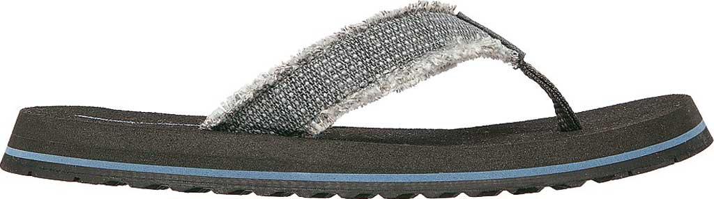 Boys' Skechers Tantric Dreddex Flip Flop, Charcoal, large, image 2