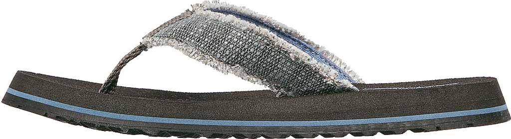 Boys' Skechers Tantric Dreddex Flip Flop, Charcoal, large, image 3