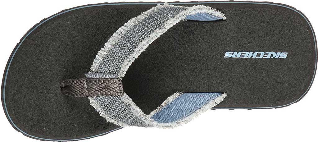 Boys' Skechers Tantric Dreddex Flip Flop, Charcoal, large, image 5