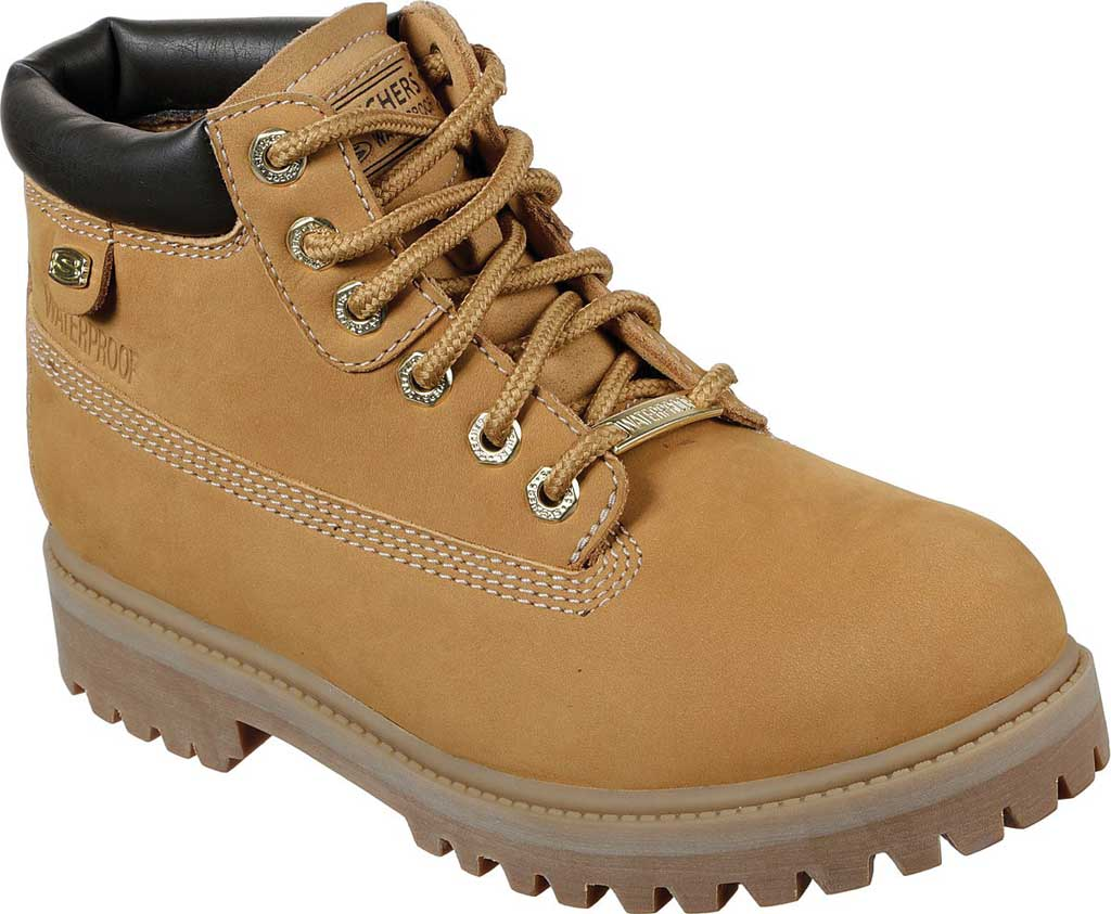 Women's Skechers Sergeants Verdict Chick Ankle Boot, Wheat, large, image 1