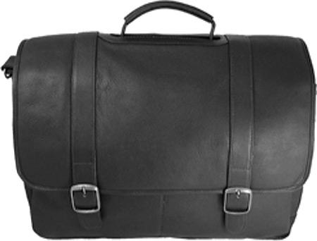 David King Leather 142 Porthole Laptop Briefcase, Black, large, image 2
