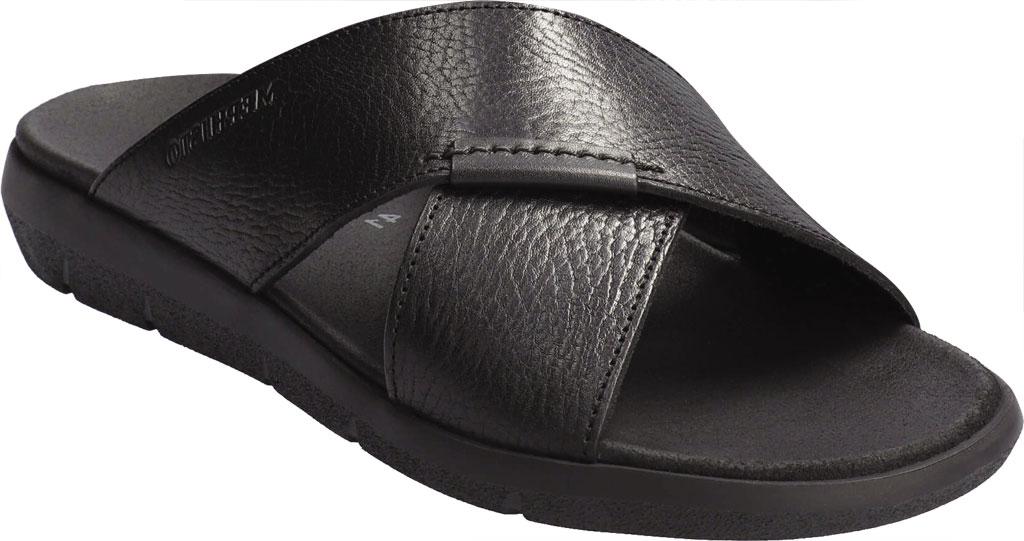 Men's Mephisto Conrad Criss Cross Slide, Black Buffalo Full Grain Leather, large, image 1
