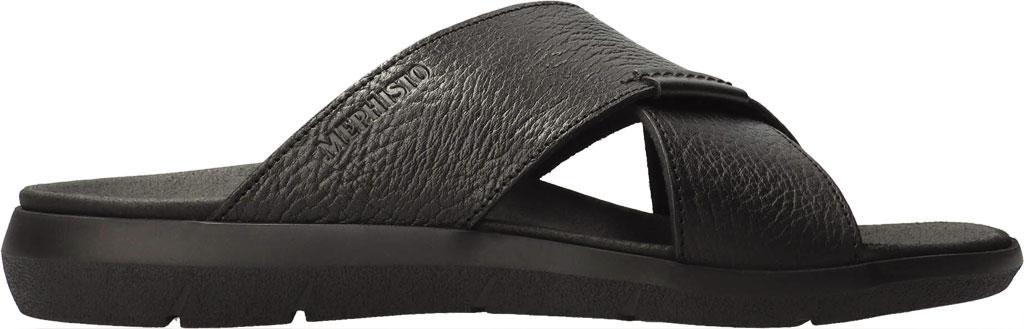 Men's Mephisto Conrad Criss Cross Slide, Black Buffalo Full Grain Leather, large, image 2