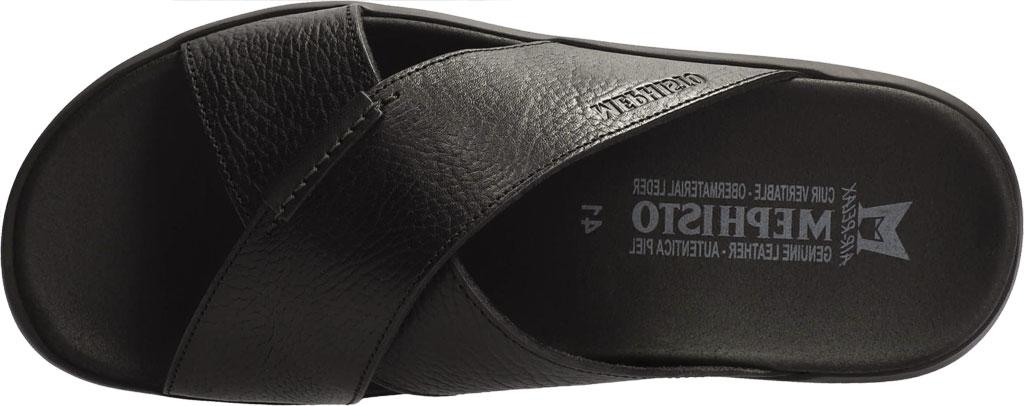 Men's Mephisto Conrad Criss Cross Slide, Black Buffalo Full Grain Leather, large, image 3