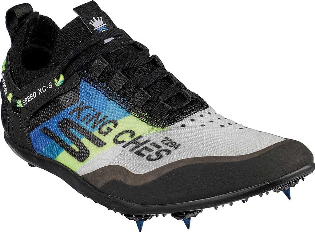 Men's Skechers GOrun Speed XCS Ultra Sneaker, Black/Blue, large, image 1