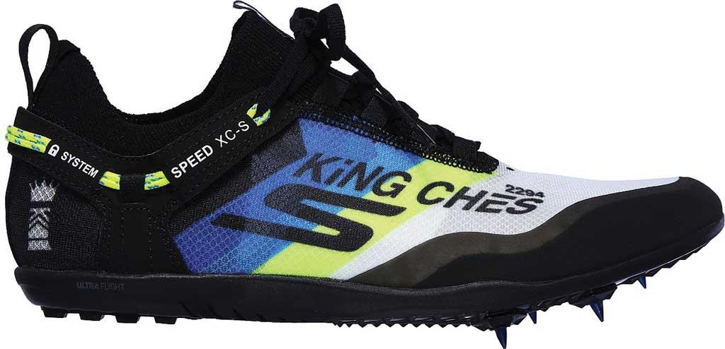 Men's Skechers GOrun Speed XCS Ultra Sneaker, Black/Blue, large, image 2