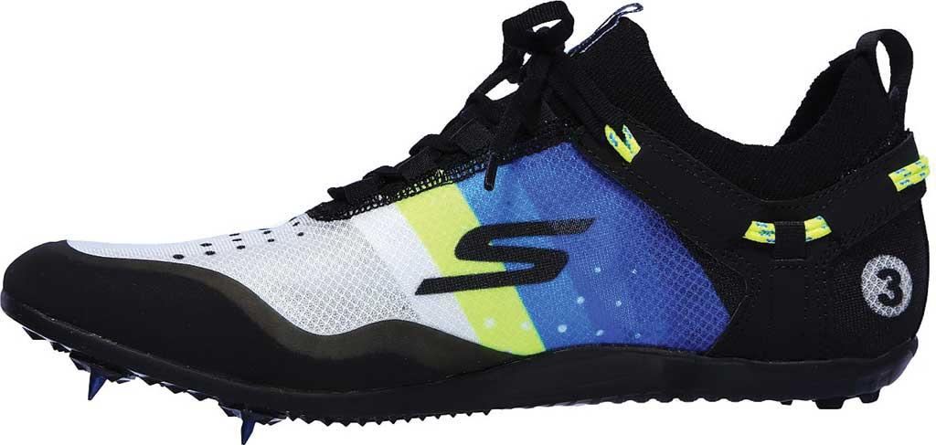 Men's Skechers GOrun Speed XCS Ultra Sneaker, Black/Blue, large, image 3