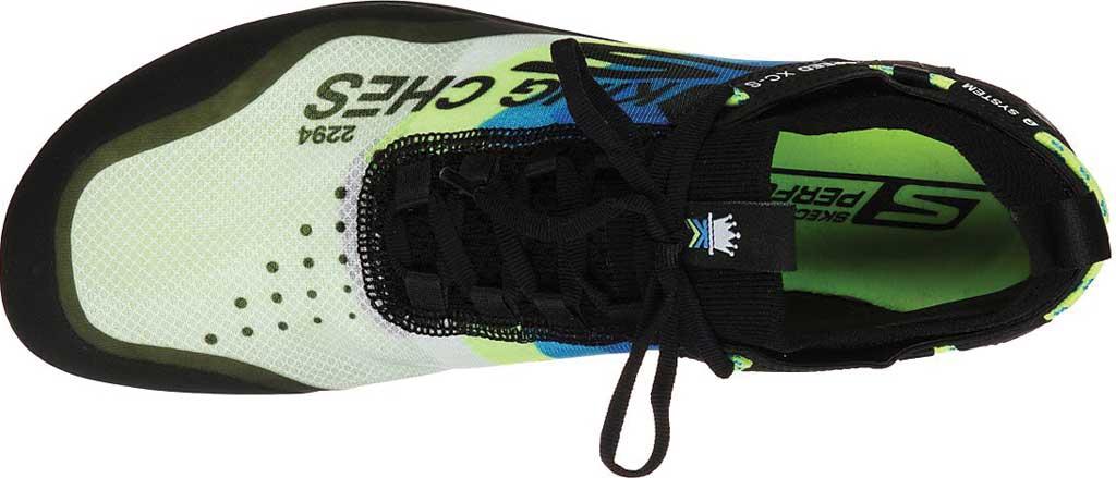 Men's Skechers GOrun Speed XCS Ultra Sneaker, Black/Blue, large, image 4