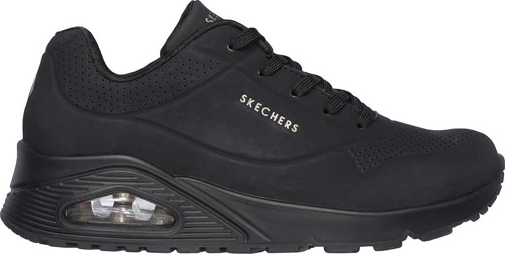Women's Skechers Uno Stand on Air Sneaker, Black/Black, large, image 2