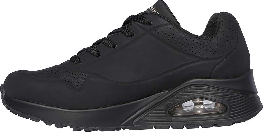 Women's Skechers Uno Stand on Air Sneaker, Black/Black, large, image 3