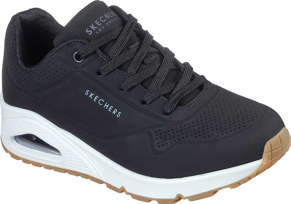 Women's Skechers Uno Stand on Air Sneaker, Black, large, image 1