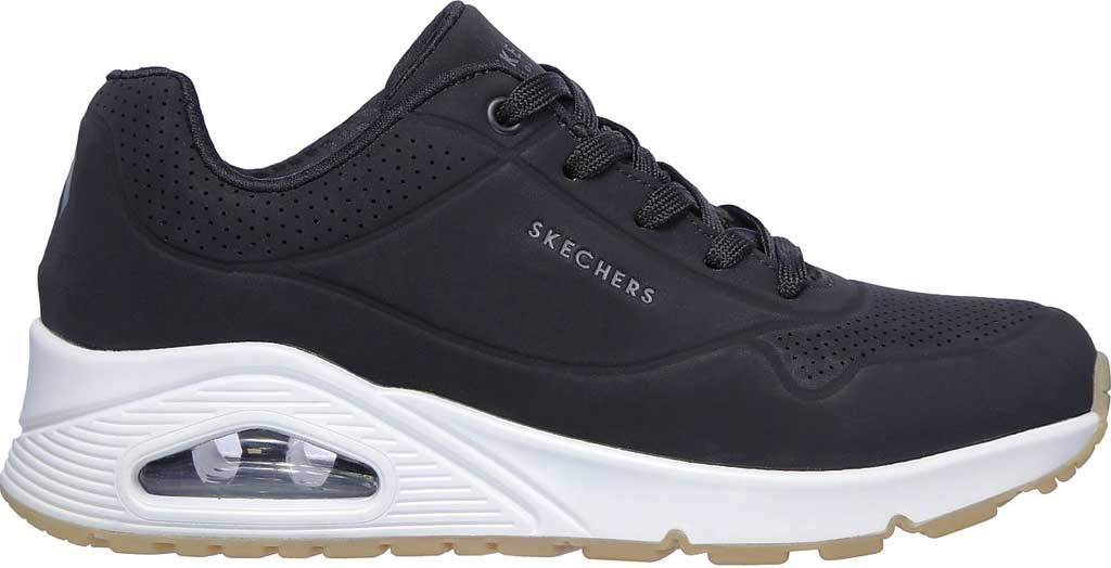 Women's Skechers Uno Stand on Air Sneaker, Black, large, image 2