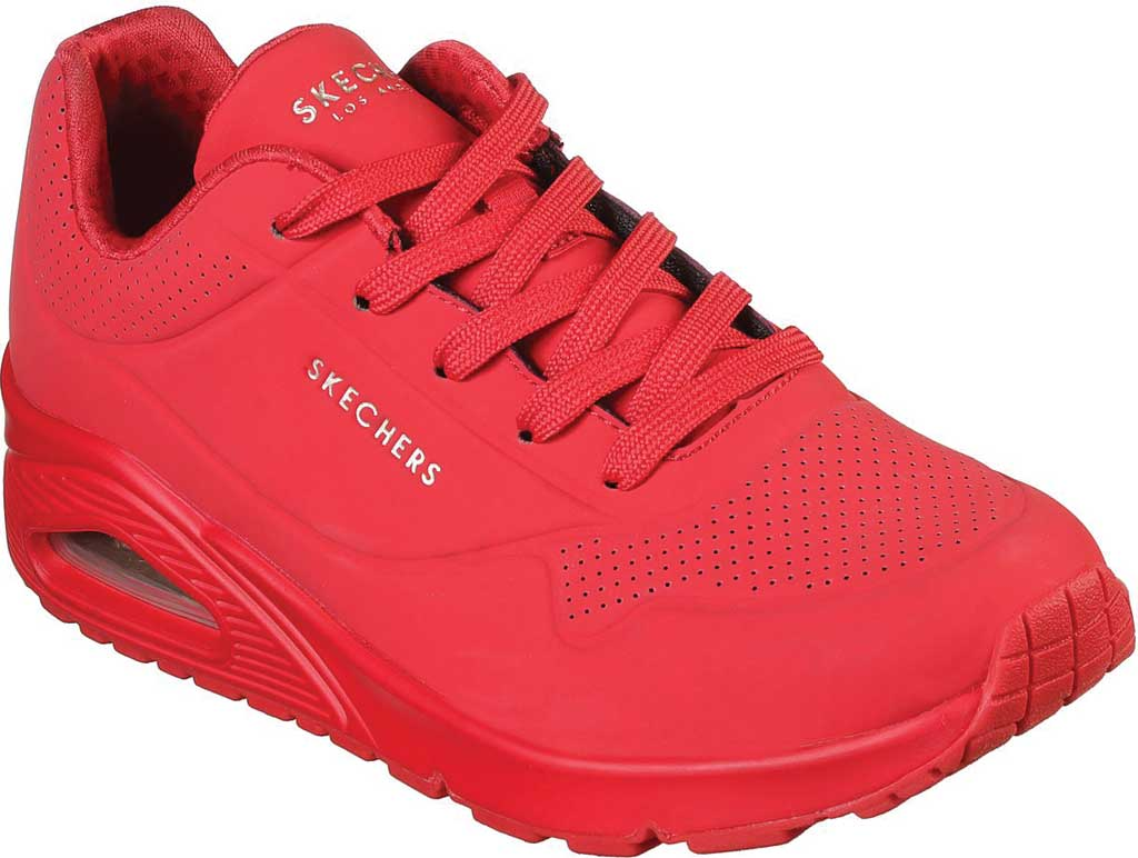 Women's Skechers Uno Stand on Air Sneaker, Red, large, image 1