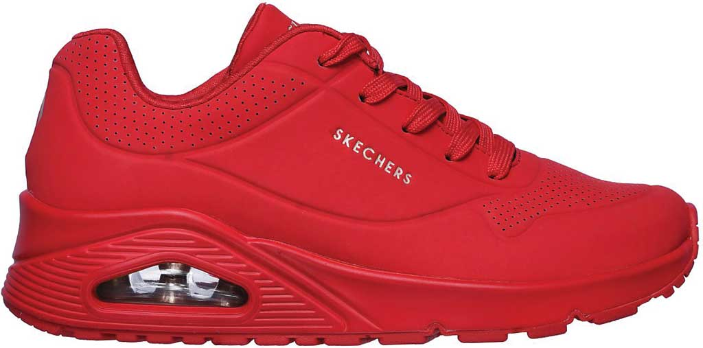 Women's Skechers Uno Stand on Air Sneaker, Red, large, image 2